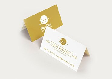 Folded Plastic Business Cards