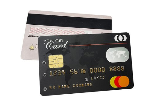 Customed chip cards samples