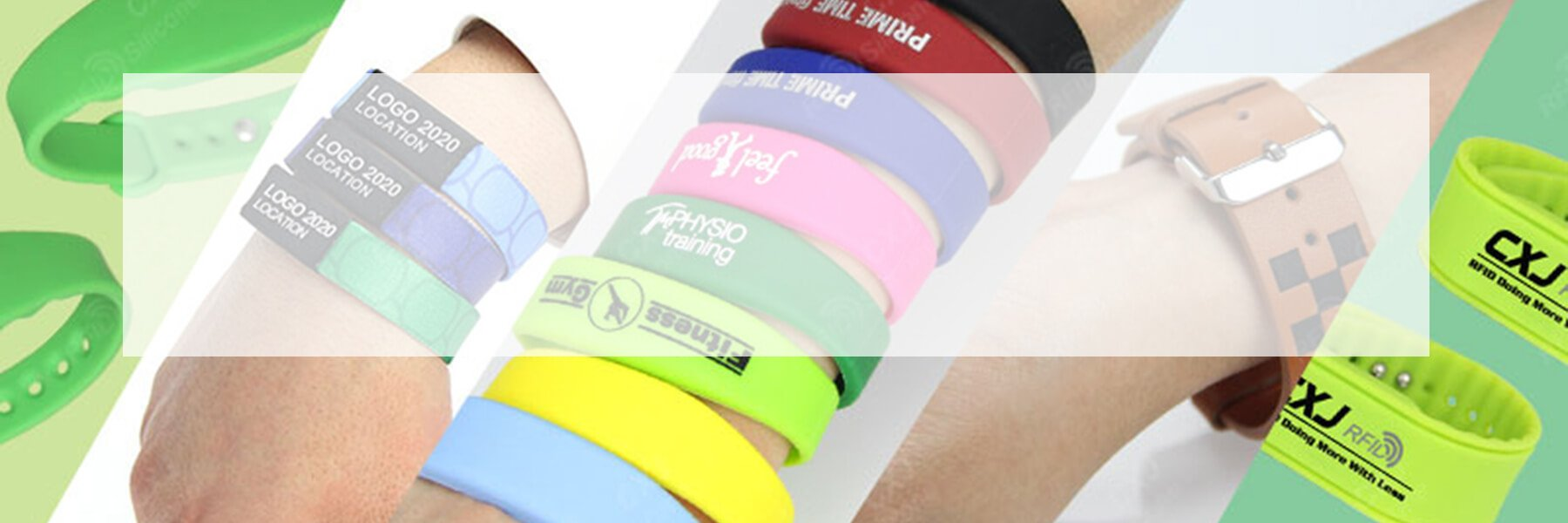 LF RFID Silicone wristbands banner
