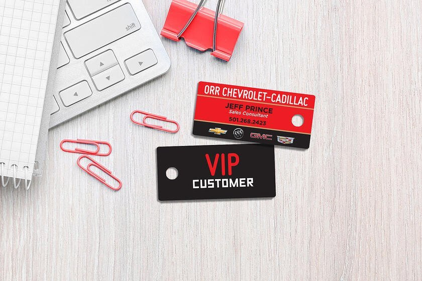 Sample of VIP Cards Key Tags