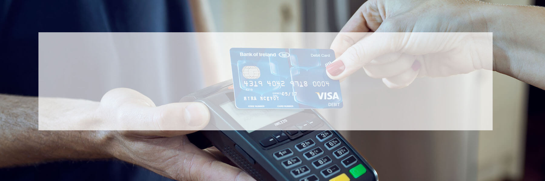 contactless card banner